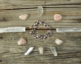 Chakra Healing Necklace, Rose Quartz, Heart Chakra, Meditation Necklace, Yoga Necklace, Reiki Healing, Crystal Healing, Fertility, Energy