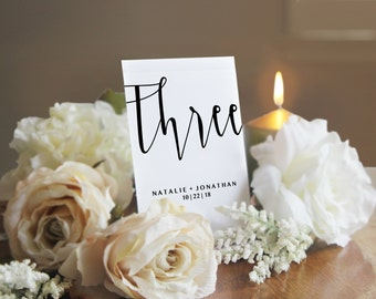 Printable Table Numbers, Editable Table Numbers, Calligraphy Table Numbers, Script, Instant Download, Adobe PDF, 4x6, Paper, Wedding, PPS08