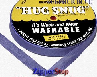 "Seam Binding - SULPHUR BLUE - Hug Snug - 100 Yard Roll 1/2"" Wide // ZIPPERSTOP - Hundreds of Colors!"