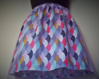 Handmade Scallop Long Skirt 3-4y