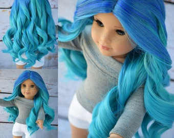 """Custom Doll Wig for 18"""" Dolls American Girl Doll Heat Safe - Tangle Resistant - Wig cap circumference of 11"""" GOTZ Journey Girls My Life"""