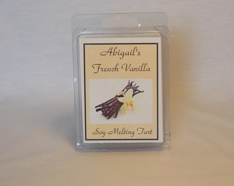 French Vanilla Handmade Natural Soy Melting Tart by Abigail's on Main