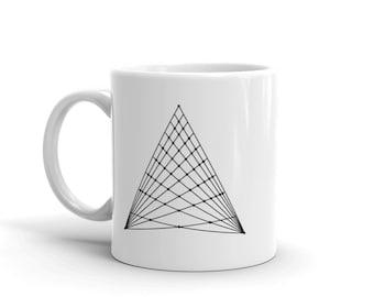 Sacred Geometry Triangle Coffee Tea Mug