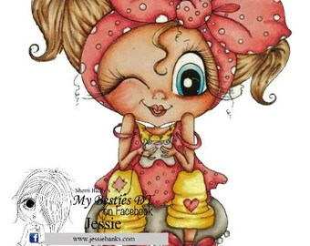 INSTANT DOWNLOAD You Get 2 Stamps in this order Digital Digi Stamps Big Eye Big Head Dolls img594 Bestie By Sherri Baldy