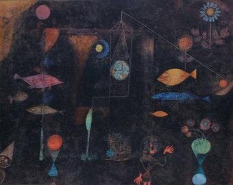 Paul Klee Fish Magic 1925 Original Collotype