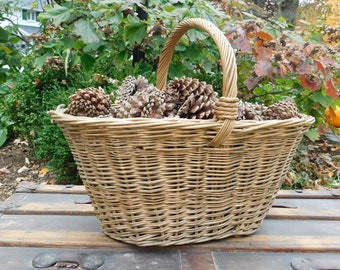 Brown Wicker Gathering Basket