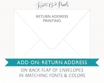Add-On: Return Address Printing on Back Flap of Mailing Envelopes