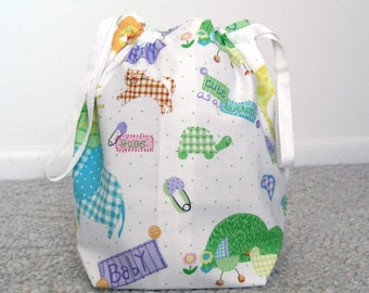 CLEARANCE SALE - Cute Baby Drawstring Knitting Project Bag