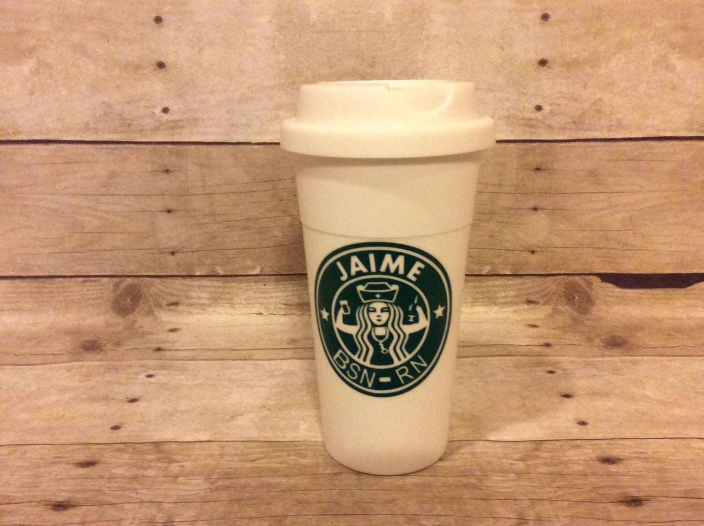 Starbucks Nurse Cup Nurse\'s Travel Mug Cup Personalized