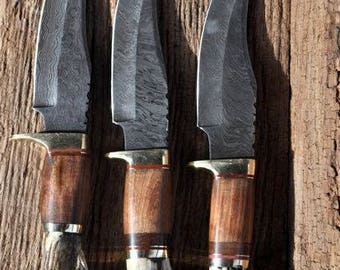 DAMASCUS STEEL 9.5 inch +   KNIFE