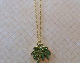 Palm Tree Necklace - Palm Tree Jewelry - Palm Tree Pendant - Coconut Tree - Tropical Necklace - Tropical Jewelry - Tropical Wedding - Tree