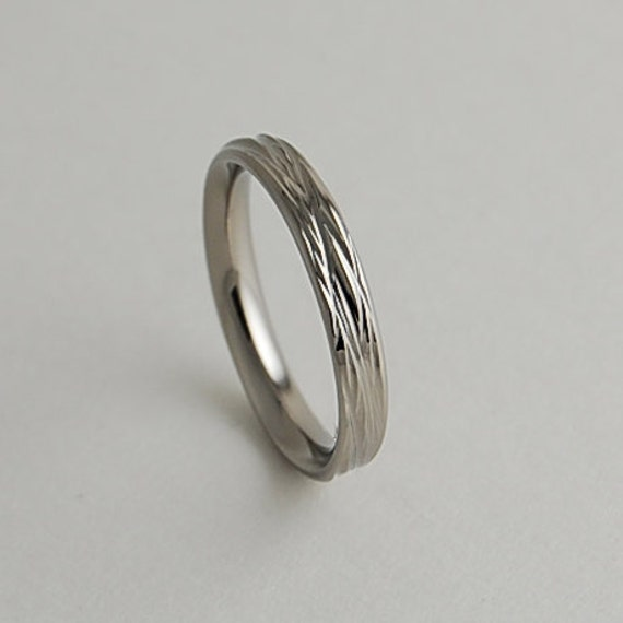 Wedding Band Titanium Ring Womens Titanium Wedding Ring