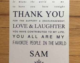 Sam//Thank You card