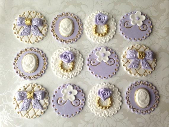 Wedding fondant cupcake toppers lady birthday edible cupcake junglespirit Images
