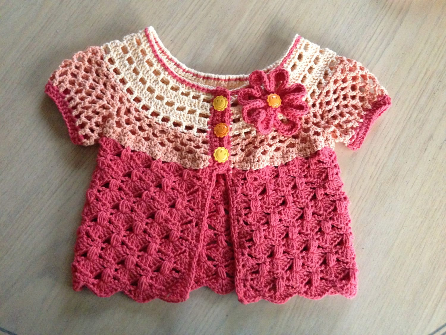 Crochet pattern for baby cardigan sweater sunburst cardigan zoom bankloansurffo Choice Image