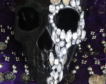 Halloween jeweled skull. Paper weight