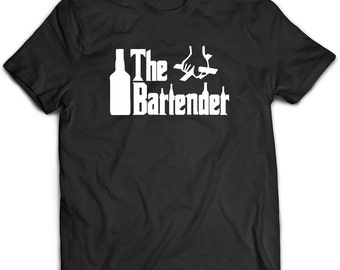 Bartender T-Shirt. Bartender tee present. Bartender tshirt gift idea. - Proudly Made in the USA!
