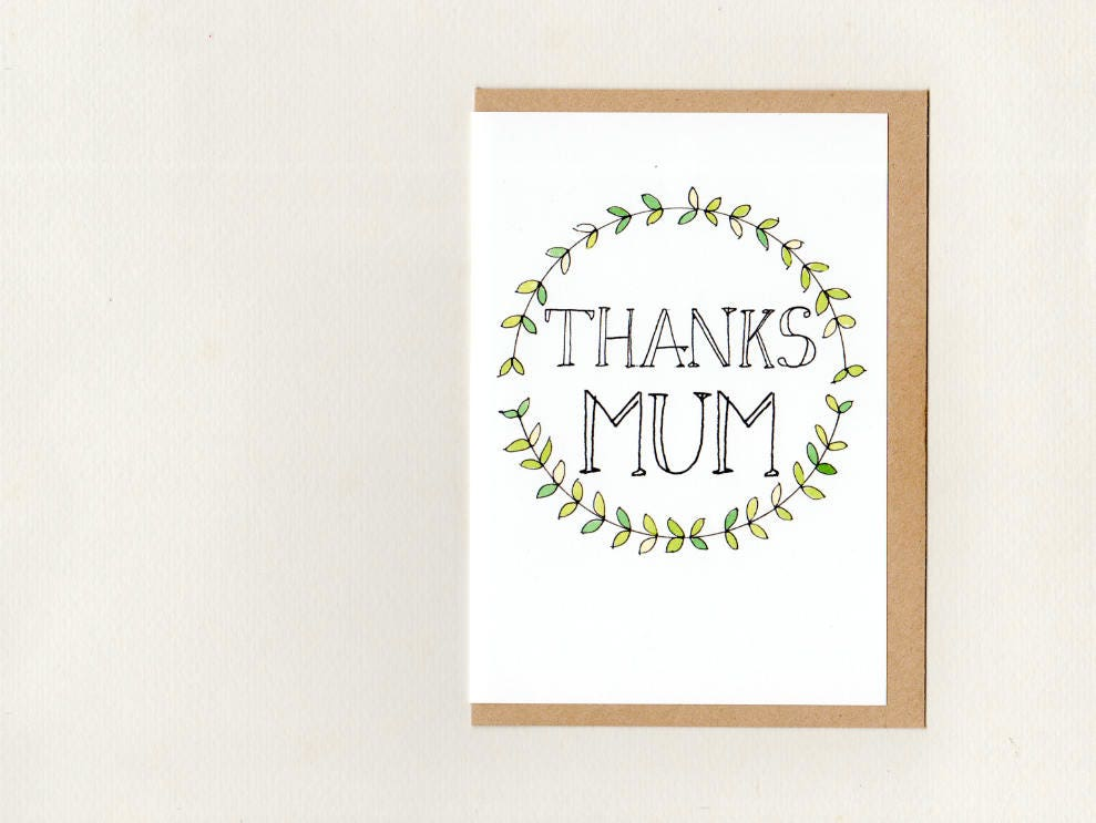 Thanks mum mom greeting card mothers day thank you mum zoom m4hsunfo