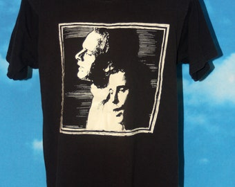 Simon & Garfunkel Evening Concert Skydome Toronto Black Screen Stars T-shirt Vintage 1993
