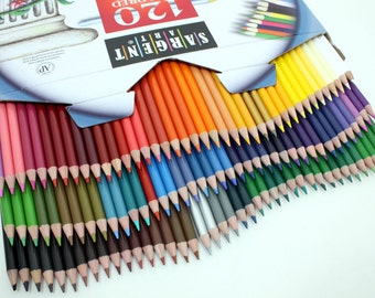 120 Colored Coloring Pencils; Adult Coloring Books, Drawing, Bible Study, Journaling, Planner, Diary; Sargent Colored Pencil Artist Set