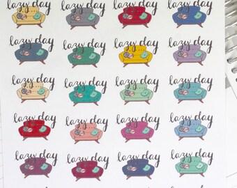 Lazy Day Sofa/Couch Hand Drawn Planner Stickers, perfect for Erin Condren, Filofax, Kikki K, Happy Planner, Inkwell Press