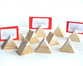 Wood wedding table number holder, Rustic wedding decor, Wooden guest card table holders, Woodland wedding stands, Wood place card holders