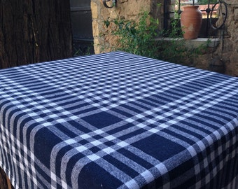 Square Tablecloth Plaid Picnic Throw Cotton Check Throw Cloth Throw Cotton  Tablecloth Check Dining Tablecloth Kitchen