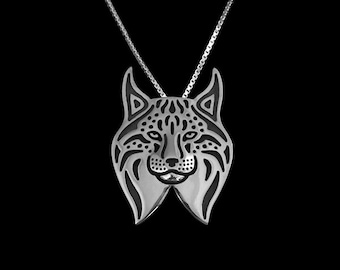 Lynx - sterling silver pendant and necklace.
