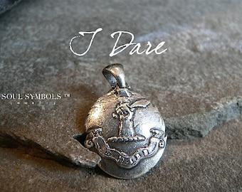 Wachs-Siegel Halskette, Herren Anhänger ich wage ~ FURCHTLOS Talisman-~ Arm und Säbel ~ inspirierende Talisman Schmuck ~ Schmuck für Männer