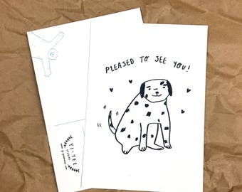 Dalmatian 'Pleased to See You' A6 Postcard