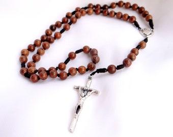 Wood and Twine Sacred Heart Rosary
