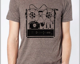 Reel to Reel Graphic Tee T Shirt Men's Vintage Music Shirt Dad Shirt Musician Tshirt Hipster Tee American Apparel XS, S, M, L, XL 8901