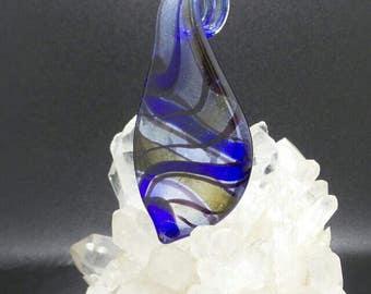 Blue Murano Glass Millefiori Pendant.