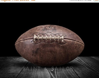 FLASH SALE til MIDNIGHT Vintage Football On Black on Black Photo Print , Decorating Ideas, Wall Decor, Wall Art,  Kids Room, Nursery Ideas,