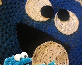 Cookie Monster Crochet Blanket