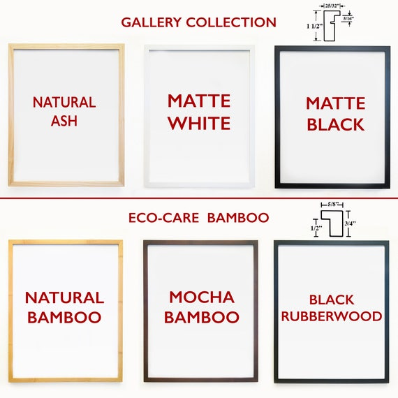 ADD 1 FRAME - Gallery Quality Frames To Go Along With Your Print - Neilson Frames - Wood - Bamboo - Fine Art Frames -