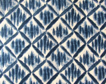 KIMONO PACIFIC blue designer/decorator/drapery/bedding/upholstery fabric
