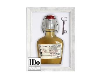 Walk Me Down the Aisle Label - Liquor Flask & Labels - Father of the Bride - Keepsake Flask -  Liquor Bottle Labels - Top Date Seal