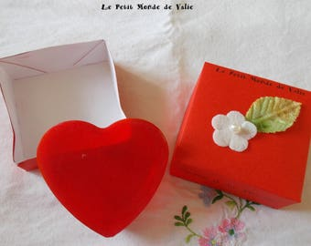 SOAP heart Strawberry in its case