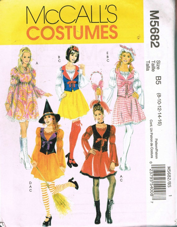Size 8-16 Adult Halloween Costume Sewing Pattern - Snow White ...