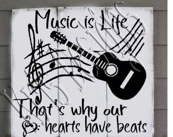 Music is Life svg png jpg