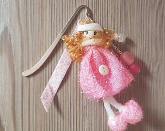 Doll pink bookmark