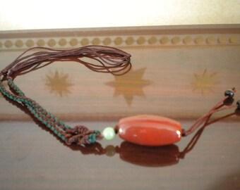 Carnelian, New Jade, Hawkseye Bead Necklace - Adjustable Z1-139, Z1-274