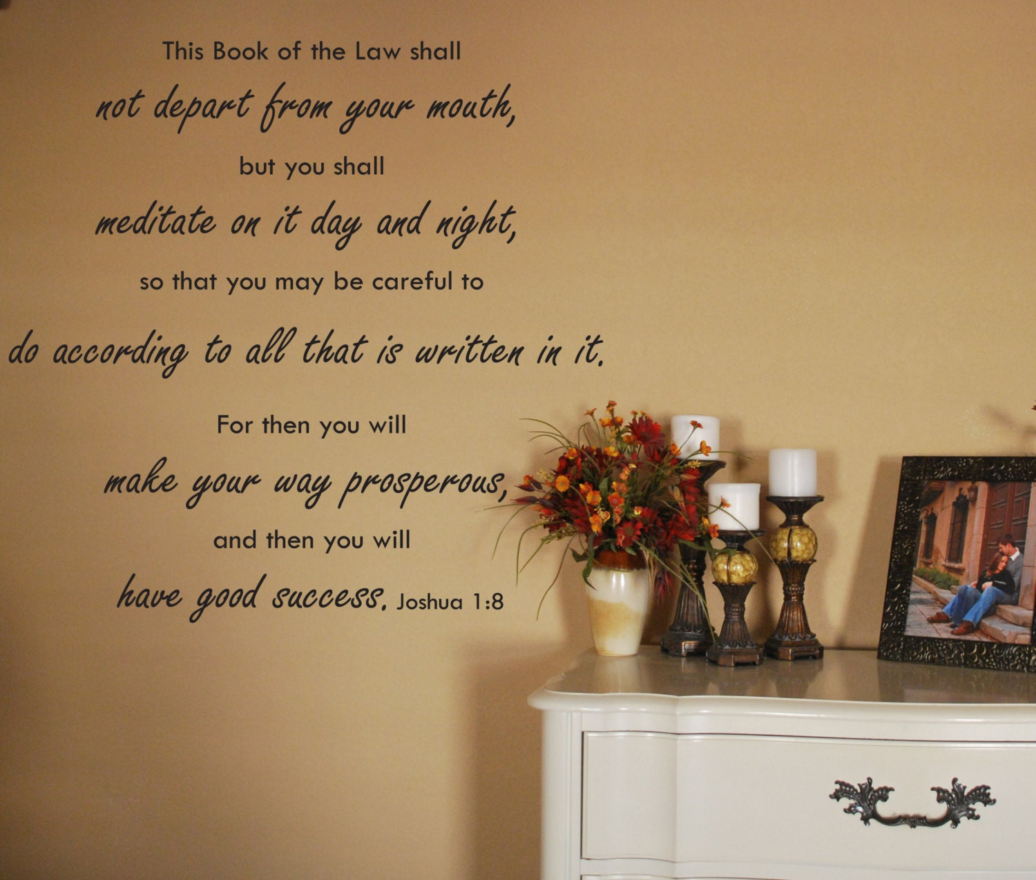 Vinyl Wall Art Decal Joshua 1:8 This Book of the Law