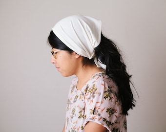 Cream Short Stretch Knit Headcovering | Women's Headwrap Veil