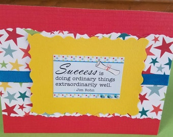 Graduation Success Quote Greeting Card