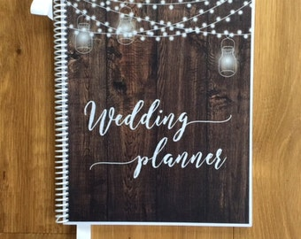 Custom Wedding Planner, Wedding Book, Wedding Planning Guide, Wedding Planner Book, Engagement Gift, Wedding Organizer, Rustic Barnlights