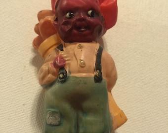 Vintage Black Americana Celluloide Doll - Golf or Caddy