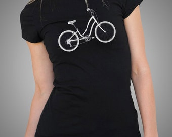 Bicycle Womens Top Bike Tees  Bicycle T Shirt Bike T shirt