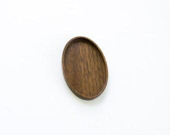 Artisan quality hardwood bezel tray - Walnut - 28 x 46 mm cavity - (C4-W)